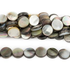 Перламутр черный монетки 10 мм