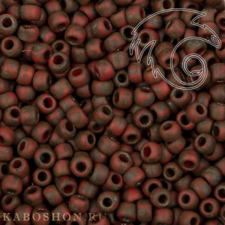 Бисер Cotobe 11-0 Antique Brick-red Matte