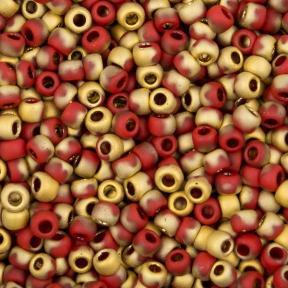 Бисер Cotobe 11-0 Brick-red and Gold Matte