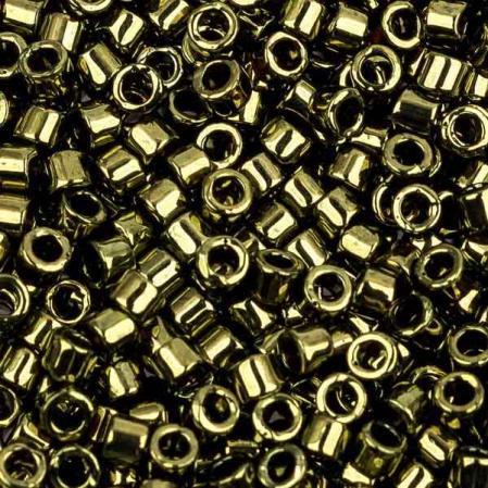 Бисер Delica 11-0 Металлизированный оливковый