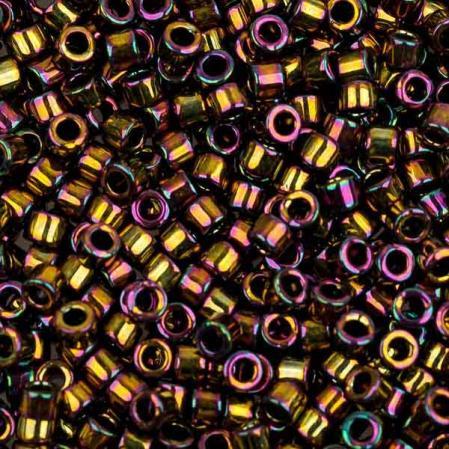 Бисер Delica 11-0 Металлизированный радужная светлая бронза