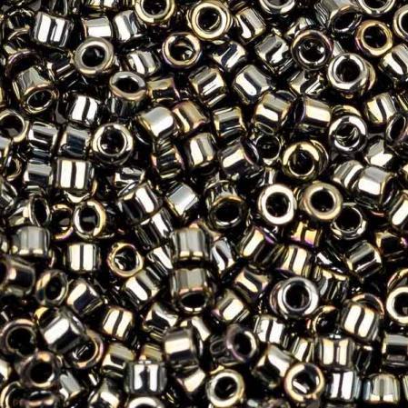 Бисер Delica 11-0 Металлизированный черная сталь