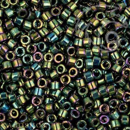 Бисер Delica 11-0 Металлизированный радужный зеленый