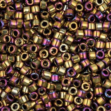 Бисер Delica 11-0 Металлизированный золотисто-оливковый ирис