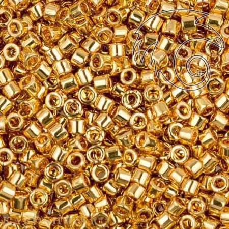 Бисер Delica 11-0 Золотое покрытие 24К