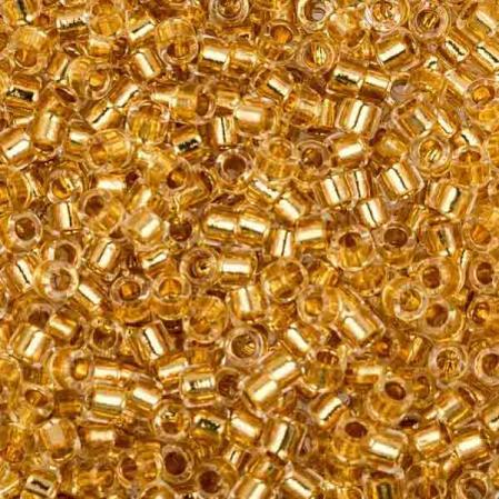 Бисер Delica 11-0 Окрашенный изнутри золото 24К