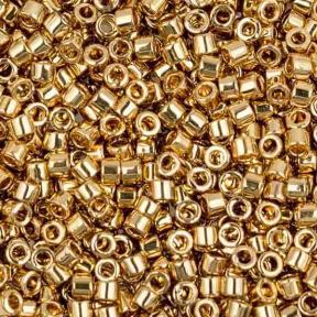 Бисер Delica 11-0 Светлое золото 24К
