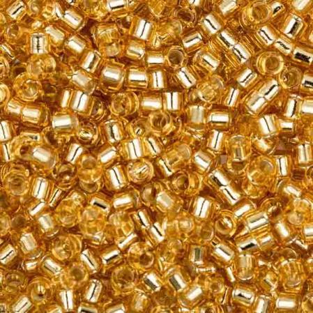 Бисер Delica 11-0 Внутреннее серебрение золото
