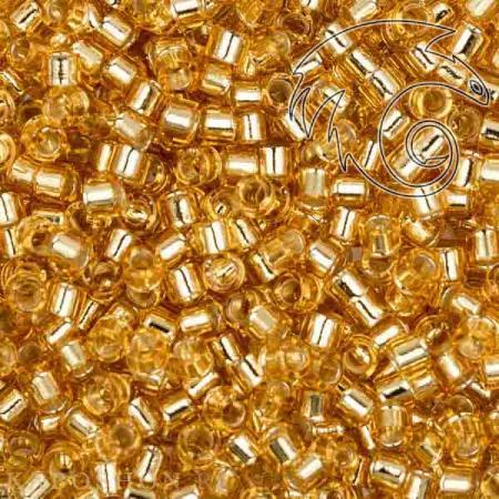 Бисер Delica 11-0 Внутреннее серебрение золото DB0042