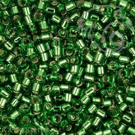 Бисер Delica 11-0 Внутреннее серебрение светло-зеленый