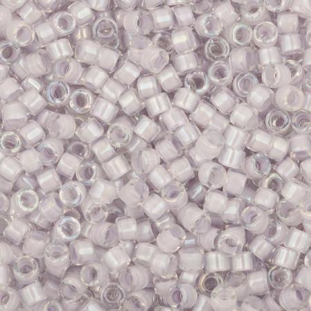 Бисер Delica 11-0 Окрашенный изнутри радужный бледная лаванда