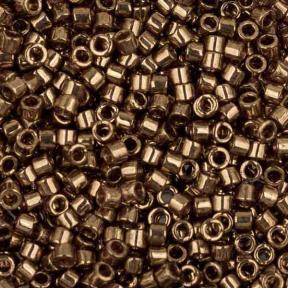 Бисер Delica 11-0 Глянцевый прозрачный золотисто-розовый металлик