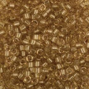 Бисер Delica 11-0 Глянцевый прозрачный шафран