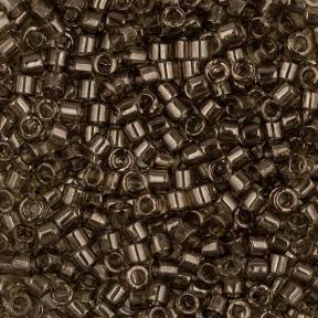 Бисер Delica 11-0 Глянцевый прозрачный дымчато-оливковый