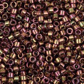 Бисер Delica 11-0 Золотое сияние розовый/светло-оливковый