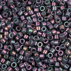 Бисер Delica 11-0 Глянцевый непрозрачный радужный серо-фиолетовый