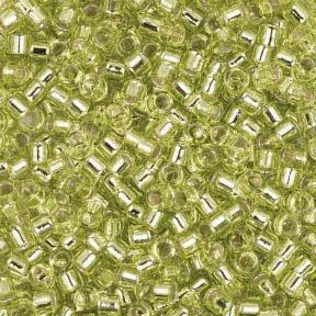 Бисер Delica 11-0 Внутреннее серебрение шартрезовый ликер