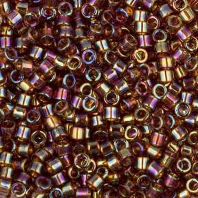 Бисер Delica 11-0 Радужный прозрачный янтарь