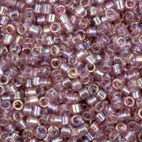 Бисер Delica 11-0 Радужный прозрачный лиловый