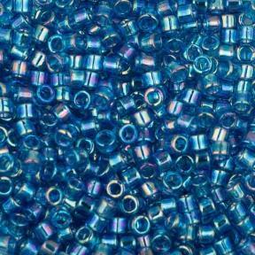 Бисер Delica 11-0 Радужный прозрачный аквамарин