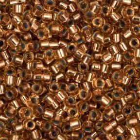 Бисер Delica 11-0 Медный изнутри светлая бронза