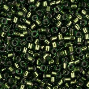 Бисер Delica 11-0 Медный изнутри оливковый