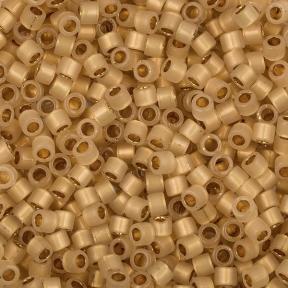 Бисер Delica 11-0 Окрашенный изнутри золото 24К опал