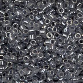 Бисер Delica 11-0 Окрашенный изнутри прозрачный серый