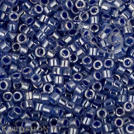 Бисер Delica 11-0 Окрашенный изнутри синий глянцевый хрусталь