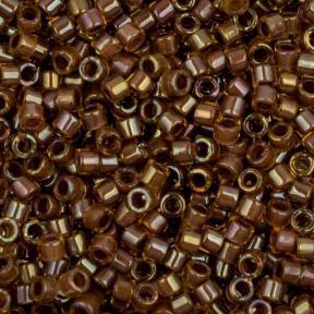 Бисер Delica 11-0 Окрашенный изнутри радужный янтарь-серо-коричневый