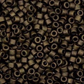 Бисер Delica 11-0 Матовый металлизированный темно-оливковый