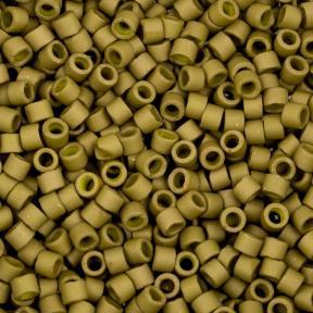 Бисер Delica 11-0 Матовый металлизированный золотая олива