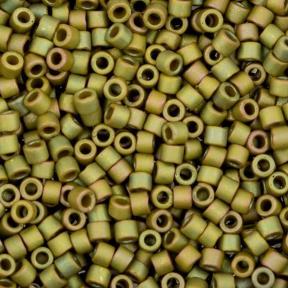 Бисер Delica 11-0 Матовый металлизированный желто-зеленый ирис
