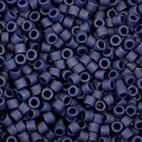 Бисер Delica 11-0 Матовый металлизированный темный серо-синий