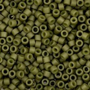 Бисер Delica 11-0 Матовый непрозрачный оливковый