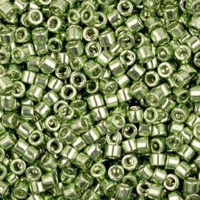 Бисер Delica 11-0 Гальванизированный светло-зеленый