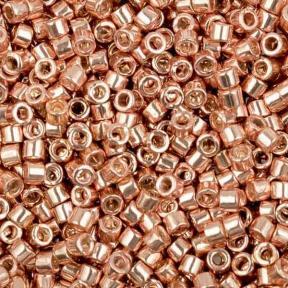 Бисер Delica 11-0 Гальванизированный светлая роза