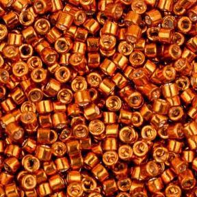 Бисер Delica 11-0 Гальванизированный мандарин