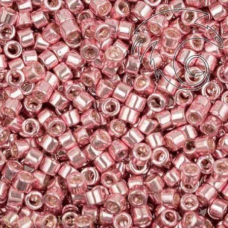 Бисер Delica 11-0 Гальванизированный розовая пудра