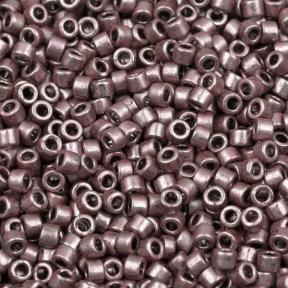 Бисер Delica 11-0 Гальванизированный темный розовато-лиловый
