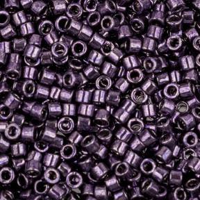 Бисер Delica 11-0 Гальванизированный темно-фиолетовый
