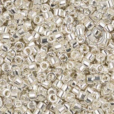 Бисер Delica 11-0 Металлизированный серебро