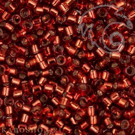 Бисер Delica 11-0 Внутреннее серебрение медный