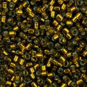 Бисер Delica 11-0 Внутреннее серебрение золотисто-оливковый