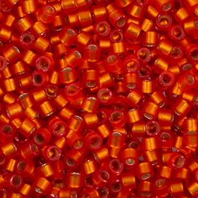 Бисер Delica 11-0 Внутреннее серебрение полуматовый оранжевый
