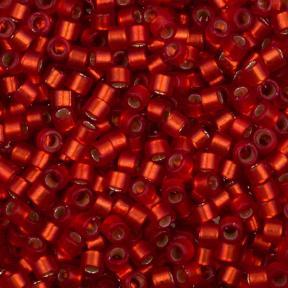 Бисер Delica 11-0 Внутреннее серебрение полуматовый темный рубин