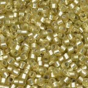 Бисер Delica 11-0 Внутреннее серебрение полуматовый желто-зеленый