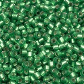 Бисер Delica 11-0 Внутреннее серебрение полуматовый зеленый