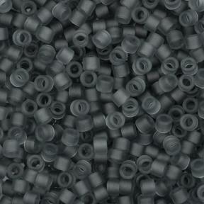 Бисер Delica 11-0 Матовый прозрачный серый