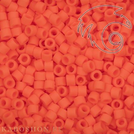 Бисер Delica 11-0 Матовый непрозрачный оранжевый
